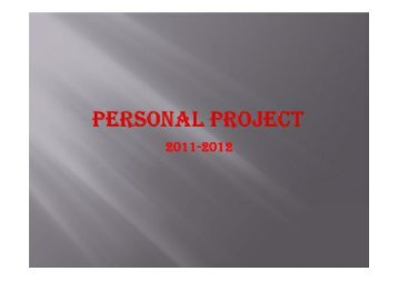 MYP Personal Projects – presentation