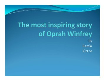The Most Inspiring Story of Oprah Winfrey