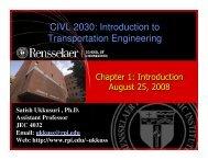 CIVL 2030: Introduction to Transportation Engineering CIVL 2030 ...