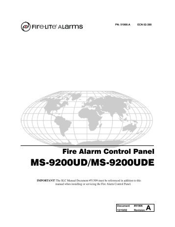 Fire-Lite Alarms MS-9200UD - Marlin Central Monitoring