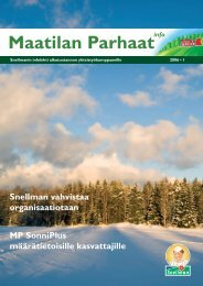 Maatilan Parhaat info 1 / 2006 - Snellman