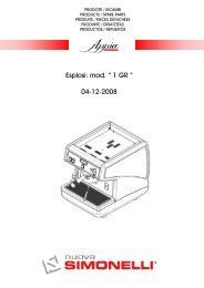 "Esplosi: mod. "" 1 GR "" 04-12-2008 - Nuova Simonelli"