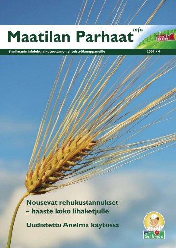 Maatilan Parhaat info 4 / 2007 - Snellman
