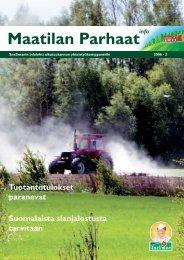 Maatilan Parhaat info 2 / 2006 - Snellman