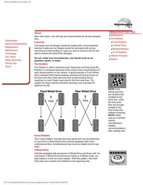 Tire Rotation Tips From Bridgestone Aa1car Com