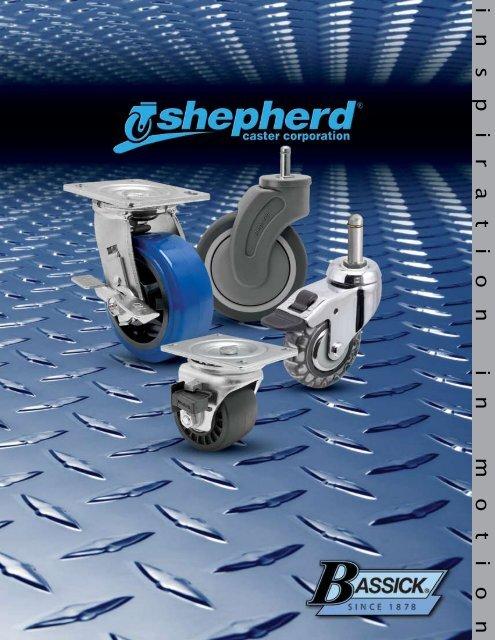 Shepherd Institutional Series 4 Diameter Ball Bearing TPR Wheel Total Lock Caster Expanding Stem Fits 1-5//8-1-11//16 Round Tube Diameter 260 lbs Capacity