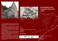 Revitalization of the Carthusian Monastery at Žiče