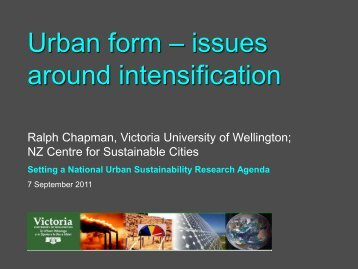 Urban form & intensification - New Zealand Centre for Sustainable ...