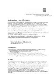 Stellenaushang – Kennziffer 048/11 Wissenschaftliche/r Mitarbeiter ...