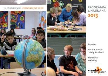 programm 1. halbjahr 2013 - evangelisch in Düsseldorf