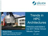 Trends in HPC-Architectures - Prace Training Portal