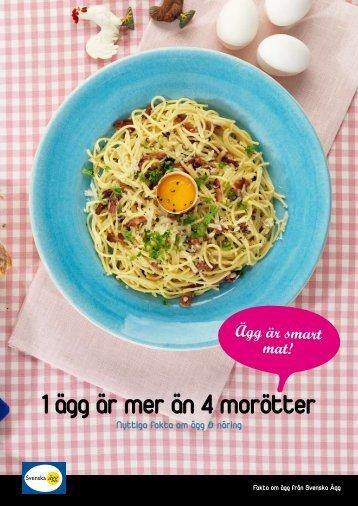 1 ägg är mer än 4 morötter - Svenska Ägg