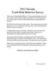 2013 NVH Questionnaire - CHS