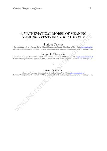 a mathematical model of meaning sharing events in a social group