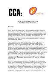 Call for Papers: Preservation of Digital Art Workshop: - Erpanet