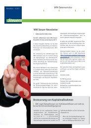 Steuern - WM Datenservice