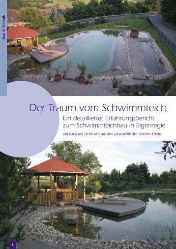 Der Traum vom Schwimmteich Ein detaillierter Erfahrungsbericht ...