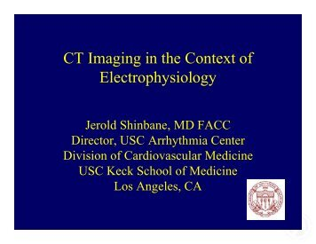 CT Imaging in the Context of Electrophysiology