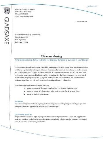 Tilsynserklæring 2011 - Bagsværd Kostskole & Gymnasium