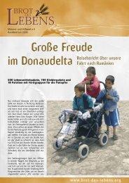 Große Freude im Donaudelta - bei Brot des Lebens