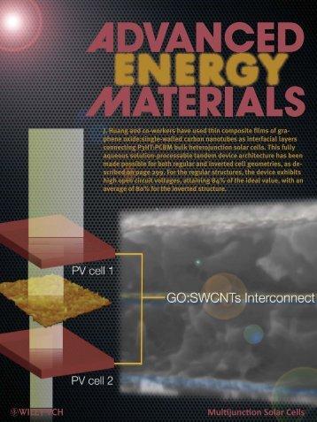 Graphene Oxide:SingleWalled Carbon ... - Jiaxing Huang