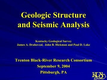 Geologic Structure & Seismic Analysis - West Virginia Geological ...