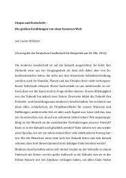 Utopie und Fortschritt - Deutsche Gesellschaft für Zeitpolitik
