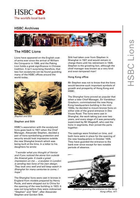 The HSBC Lions - HSBC com