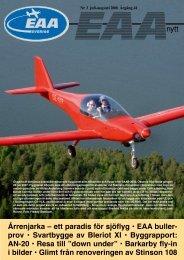 Årrenjarka – ett paradis för sjöflyg • EAA buller ... - EAA chapter 222