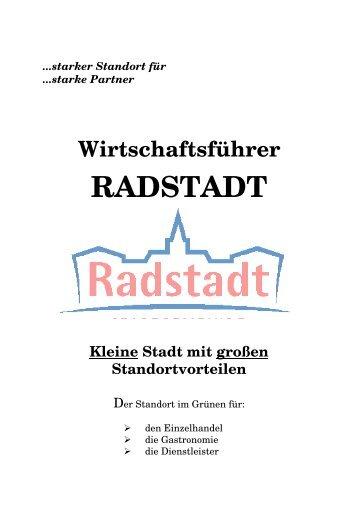 Der Wirtschaftsführer als .pdf - Stadtmarketing Radstadt ...