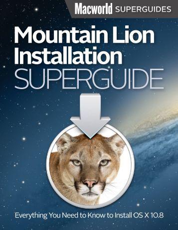 Mountain Lion Installation Guide - Macworld