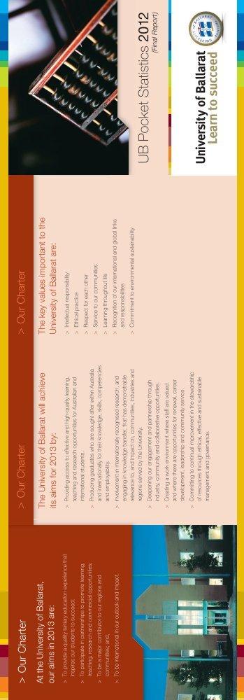 2012 (pdf, 336kb) - University of Ballarat