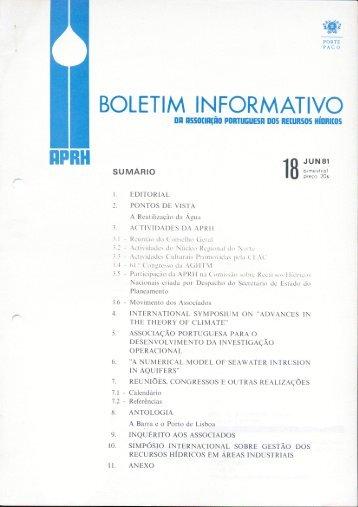 Boletim Informativo nº 18 - APRH