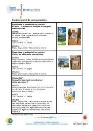 Contenu du kit de communication - Espace INFO->ÉNERGIE du ...