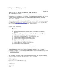 16. juni 2011 INNKALLING TIL ORDINÆR GENERALFORSAMLING ...