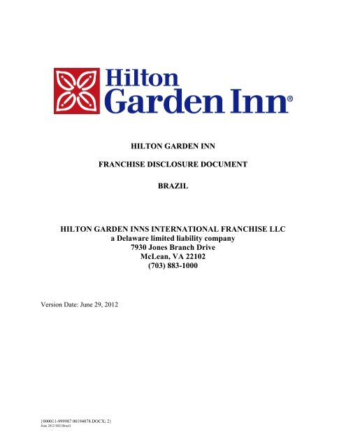 Hilton Garden Inn Franchise Hilton Worldwide