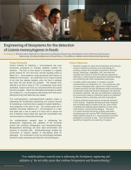 Engineering of biosystems for the detection of Listeria ...