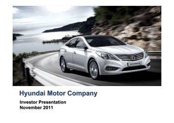 (Microsoft PowerPoint - \241\332IR PT 11\277\371) - Hyundai