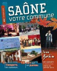 N° 47, octobre 2009 (format pdf) - Saone