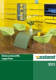 Holzwerkstoffe Katalog 2013 - Weyland GmbH