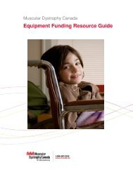 Equipment Funding Resource Guide - Muscular Dystrophy Canada