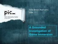 A Grounded Investigation of Game Immersion - Porto Interactive ...