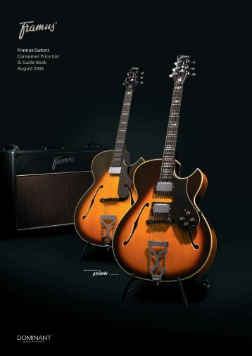 Framus Guitars Consumer Price List & Guide Book - Guitars at ...