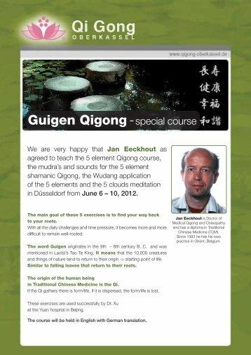 Guigen Qigong - special course - Qi Gong Oberkassel