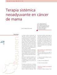 Terapia sistémica neoadyuvante en cáncer de mama - Clínica Las ...