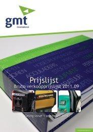 Prijslijst - GMT International