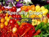 Specialty Crops - University of California Small Farm Program