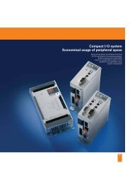 Compact I/O system: Economical usage of peripheral space
