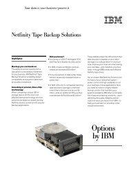 Netfinity Tape Backup Solutions