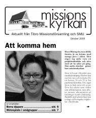 Att komma hem - Missionskyrkan Tibro